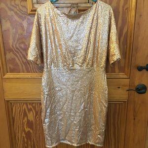 NWT Francesca's full sequin tie back dress size M
